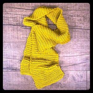 Homemade Hand-knitted Dijon Scarf